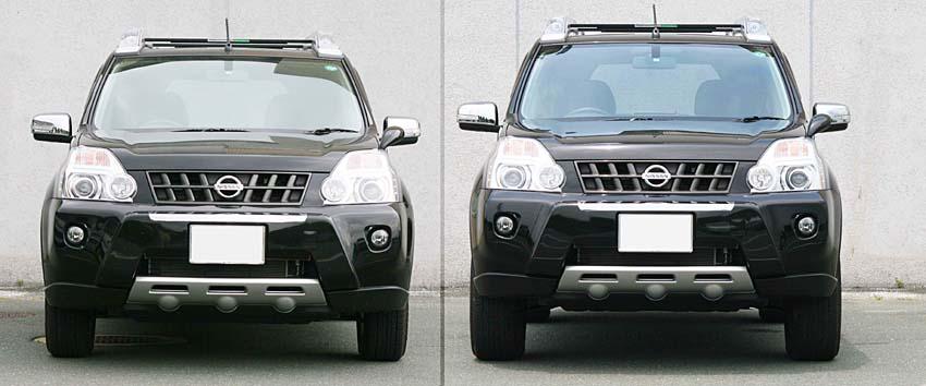 リフトアップ前(左側) □リフトアップ後(右側)